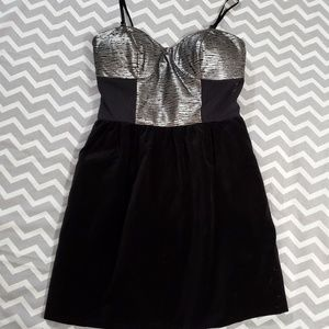 COPY - Chandi & Lia Black/Silver Mini Party Dress